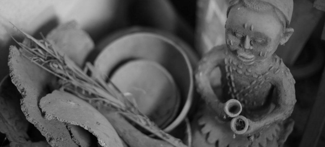 Poterie d'un.e adepte de Sakpata, Collection privée de Gabin Djimassé, Janvier 2015, Abomey, Bénin © Jennifer Lorin