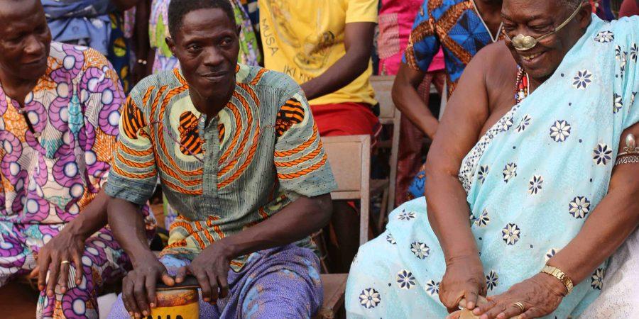 Cérémonie dite du bélier au palais privé d'Agoli-Agbo, Août 2016, Abomey, Bénin © Jennifer Lorin