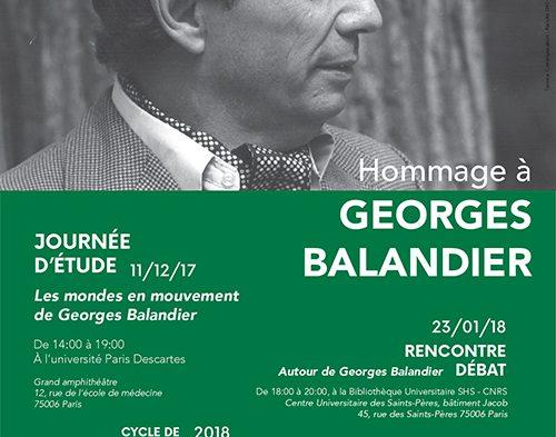 11/12 : Journée d'étude – Les mondes en mouvement de Georges Balandier