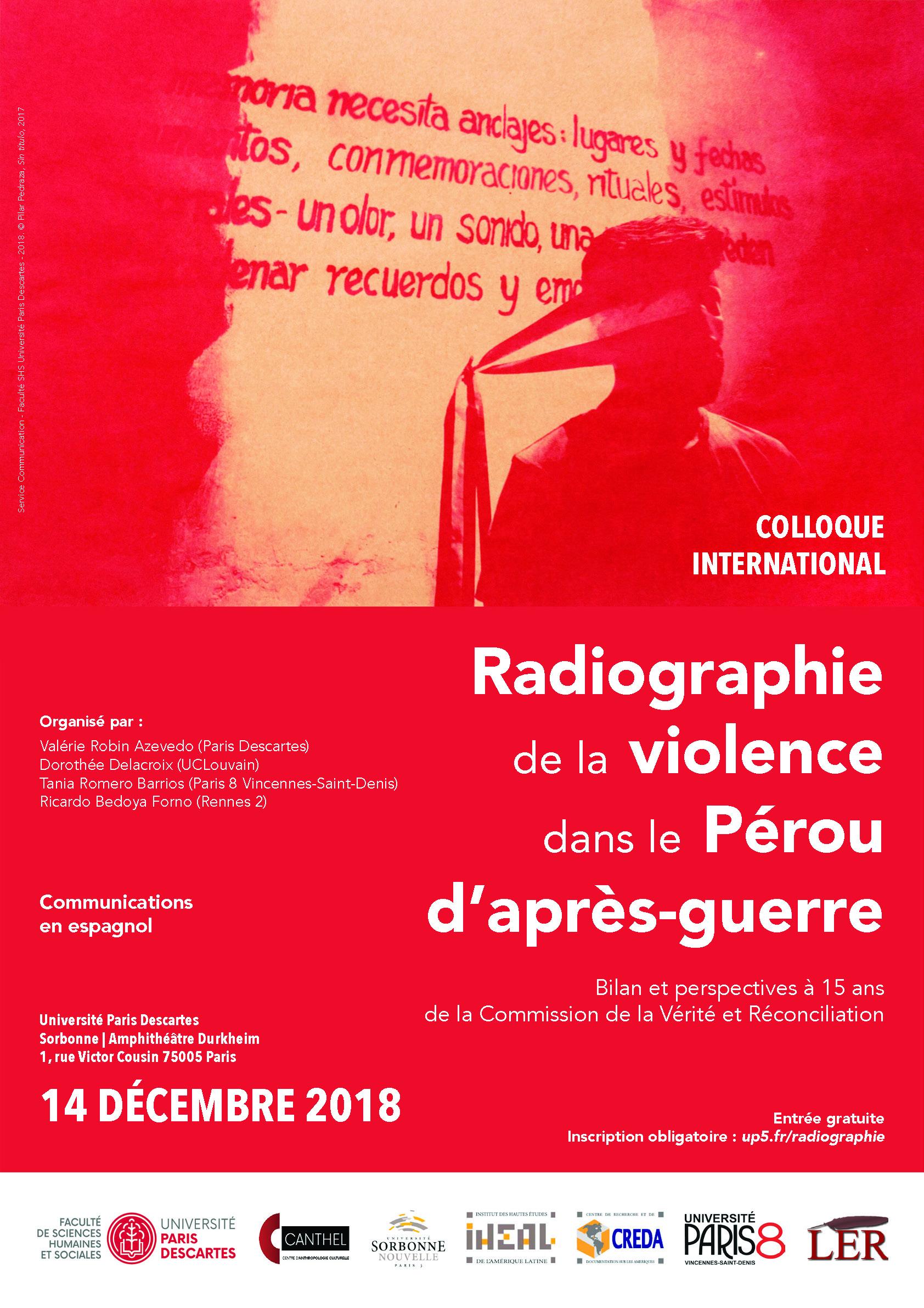 MAJ 14/12 : Colloque | Radiographie de la violence dans le Pérou d'après-guerre  Exemplaire