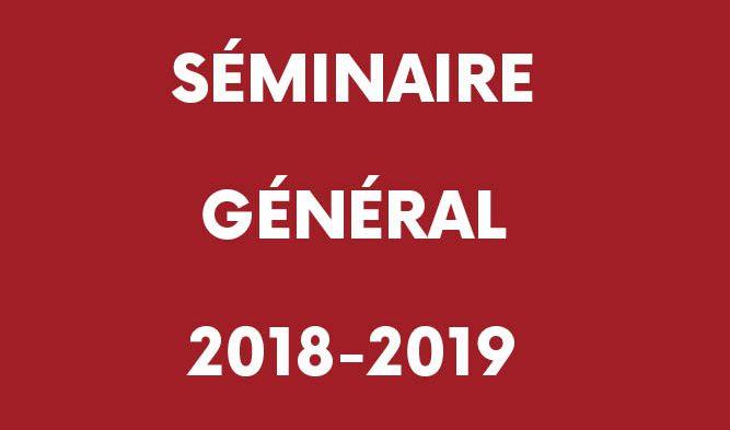 Programme du séminaire général 2018/2019