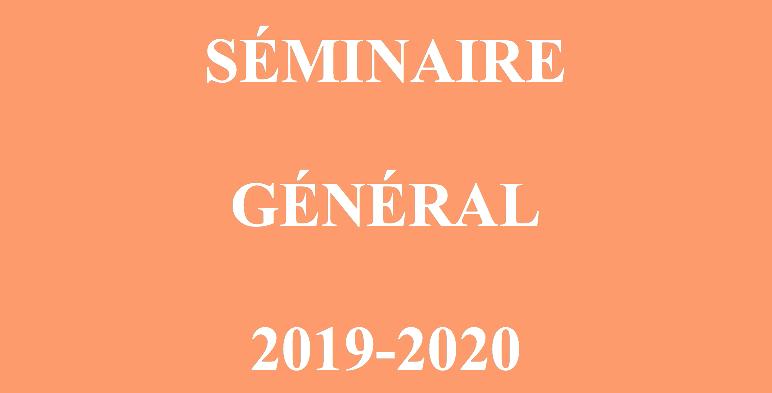Programme du séminaire général 2019-2020